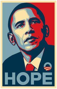 Barack Obama HOPE Presidential Campaign Poster