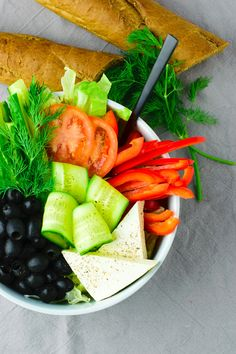 Greek Salad [vegan, gluten-free] | #vegan #glutenfree www.contentednesscooking.com