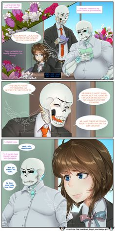 SecuriTale: The Guardian, Angel, and Judge 28 by tekiriku on DeviantArt Undertale Comic Funny, Anime Undertale, Underfell Comic, Frans Undertale, Undertaker, Chara, The Guardian, Videogames, Blueberry