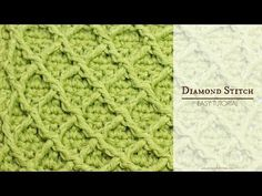 """The DiamondStitchis quite an easy stitch to learn and follow, and takes only a minimum amount of practise to master. In other words, it won't be long before you're crocheting lovely blankets, textured scarvesand unique headbands featuring this beautiful stitch! If you'd like to learn how to create the """"Diamond Stitch"""", this helpful video will …"""