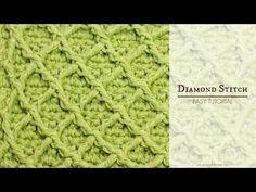 How To: Crochet The Diamond Stitch - Easy Tutorial - YouTube