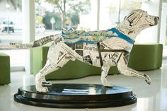 This past March, Southeastern Guide Dogs launched a fundraising and public awareness campaign called Superheroes on Parade. It began with 12 creatively painted, larger-than-life dog sculptures representing the real #dogs that transform the lives of the visually impaired and #veterans living with #PTSD.