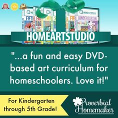 Home Art Studio is a homeschool art curriculum that is easy to use and kids love! Teach the principles of art in a fun and engaging way. Includes grades K-5 and a holiday program as well.