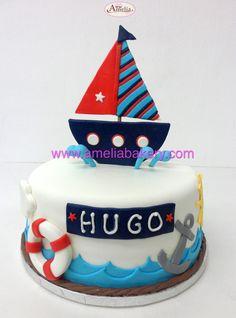 Tarta marina bote - Pasteles infantiles marinos Boys 1st Birthday Cake, Sailor Birthday, Fondant Cakes, Cupcake Cakes, Marine Cake, Boat Cake, Nautical Cake, Sea Cakes, Small Cake