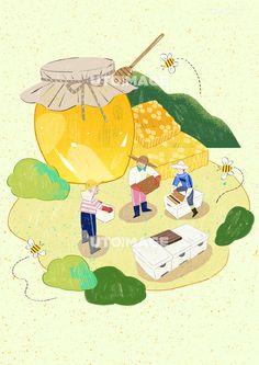수확 001 SPAI380, 유토이미지, 일러스트, 생활, 수확, 농산물, 농수산물, 농사, 농업, 신선한, 직업, 농부, 농장, 자연, 오브젝트, 배경, 사람, 남자, 어른, 성인, 3인, 서있는, 들고있는, 일하는, 벌, 벌꿀, 꿀, 꿀단지, 벌집, 벌통, 양봉, 동물, 곤충, 행복, 즐거운, 미소, 협동, 협업, 동료, 봄, 계절, 음식 Korean Illustration, Flat Illustration, Fruit Box, Retro, Plant Based, Disney Characters, Fictional Characters, Disney Princess, Drawings