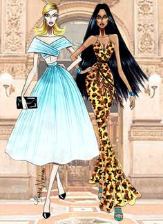 Disney Besties - Cinderella & Pocahontas - by Armand Mehidri Disney Princess Fashion, Disney Princess Art, Princess Style, Disney Fan Art, Disney Style, Disney Fashion, Disney Illustration, Illustration Mode, Arte Fashion