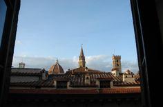 Vista dal piano sottotetto di Palazzo Vecchio, Firenze (Toscana, Italy) - by Silvana, aprile 2014