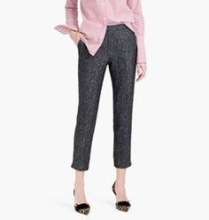 Crew for the Tall Martie pant in sequin herringbone for Women. Find the best selection of Women Pants available in-stores and online. Tomboy Fashion, Work Fashion, Women's Fashion, Business Casual Dress Code, Herringbone Fabric, New Years Eve Dresses, Professional Attire, Holiday Fashion, Holiday Style
