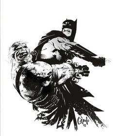 Batman vs Solomon Grundy by Greg Capullo