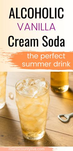 This sweet cocktail is perfect for summer. Make this grown up cream soda with the tips in this article. Sweet Alcoholic Drinks, Sweet Cocktails, Liquor Drinks, Vodka Drinks, Smoothie Drinks, Cocktail Drinks, Fun Drinks, Mixed Drinks, Martinis