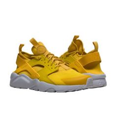 newest 30a4a fc04c Nike Air Huarache Run Ultra Mineral Yellow Sneaker Men s Lifestyle Shoes.  HerrskorSneakers ...
