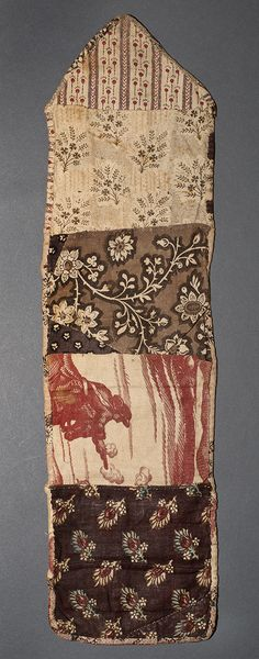 Winterthur, some of the same textiles show up in a patchwork pocket. 1780-1810