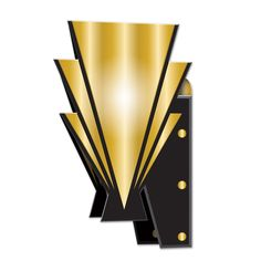 Roaring 20's CHEERS Art Deco Wall Sconce Gangster Birthday Party Decoration #Beistle