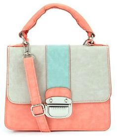 Pastel Colour Block Crossover bag note to self: love the bag but in pink instead of coral.