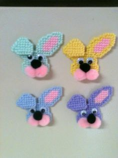 Plastic Canvas Easter Bunny Magnets from Picsity.com