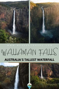 Wallaman Falls Queensland, located in the World Heritage-listed Wet Tropics Area of FNQ, is Australia's tallest, permanent, single-drop waterfall. Read this complete guide to visiting Wallaman Waterfall and get information on the Wallaman Falls hike to the base via the Djyinda Track. New Travel, Travel Goals, Travel Advice, Travel Tips, Bucket List Destinations, Travel Destinations, Go Outdoors, Beautiful Places In The World, Australia Travel