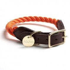 Found My Animal Rope Collar Orange
