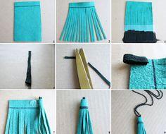Leather Tassel Necklace - Collar borla de cuero