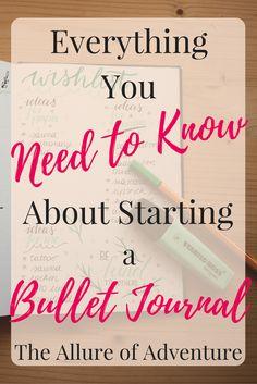 Feeling overwhelmed with starting a bullet journal…