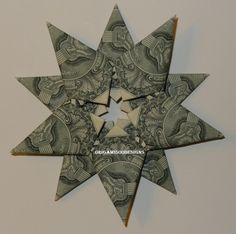 A Beautiful Handcrafted Money Origami 10 by origami500designs, $18.99