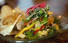 My kind of salad,fresh and vibrant, exotic, too...at Willi's Seafood (January 5, 2011, Healdsburg, CA)