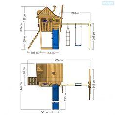 Spielturm Monkey Island, Baumhaus mit Rutsche und Schaukel  810350_k