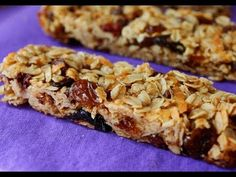 How to Make Soft and Chewy Granola Bars - Homemade Granola Bar Recipe No Bake Granola Bars, Homemade Granola Bars, Oatmeal Bars, Muesli Bars, Healthy Dinner Recipes, Healthy Snacks, Healthy Eating, Food Videos, Easy Meals