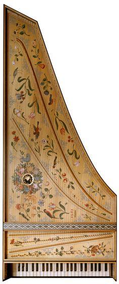 Kennedy Harpsichords - Flemish style soundboard