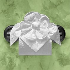 Toilet Paper Origami.  Love the idea.  Not enough to buy a book though!  lol