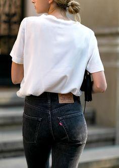 Le parfait look noir et blanc #56 (photo FashionMugging)