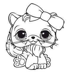 Dibujos para Colorear. Dibujos para Pintar. Dibujos para imprimir y colorear online. Littlest pet shop 10