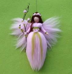 Needle Felted Wool Fairy or Angel Instructions by Holichsmir, $8.00