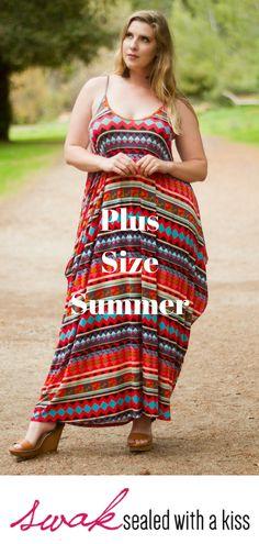 C.O.C Sleeveless Short Dress Curve Women Plus Size Multi-Fabric
