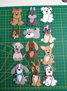 punch art - foto prima per modelli Paper Punch Art, Punch Art Cards, Paper Art, Dog Crafts, Felt Crafts, Paper Crafts, Arte Punch, Marianne Design Cards, Dog Quilts