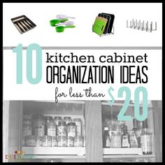 I needed kitchen cabinet organization fast! Things were everywhere. Here's the investment in easy tools to organize that has made my kitchen organized!