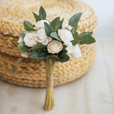 Simple Bridesmaid Bouquets, Prom Bouquet, Small Wedding Bouquets, Flower Girl Bouquet, Diy Wedding Bouquet, Small Bouquet, Wooden Flower Bouquet, Inexpensive Wedding Flowers, Neutral Wedding Flowers