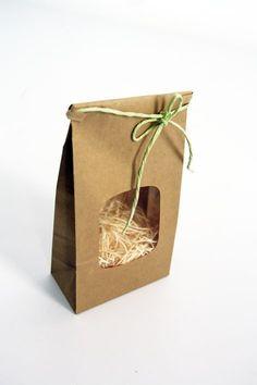 Kraft Tin Tie Gift Bag Kit  Set of 10 by leboxboutique on Etsy, $10.00