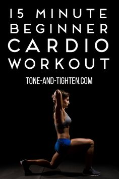 Sometimes you dont have a lot of time in your day to squeeze a workout in but lets be honest- everyone has at least 15 minutes right? This quick cardio workout will help you burn so Beginner Cardio Workout, Beginners Cardio, 15 Minute Workout, Toning Workouts, Hiit, At Home Workouts, Exercises, Quick Workouts, Fitness Tips