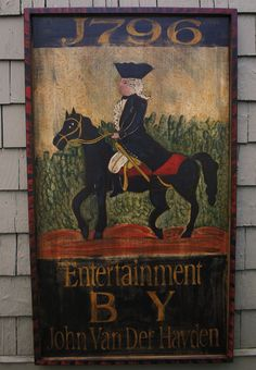 old Colonial style signs Primitive Signs, Primitive Folk Art, Primitive Decor, Pub Signs, Shop Signs, Art Populaire, Antique Signs, Vintage Tins, Naive Art