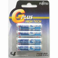 Fujitsu AA G Plus High Tech LR6 1.5v Alkaline 4pcs