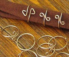 Simple wire wrap rings tutorial  #handmade #jewelry #DIY