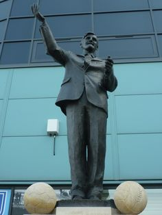 Statue of the legendary Jimmy Hill outside the Ricoh Arena Coventry England, Coventry City Fc, Chelsea United, Ricoh Arena, Blue Army, Family Memories, Statues, Blues, Football