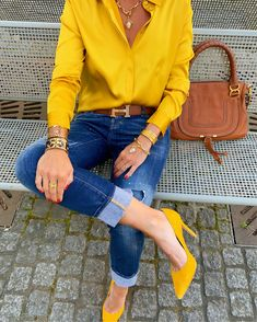 Outfits Blue Jeans, Outfits Con Camisa, Outfits Mujer, Casual Fall Outfits, Chic Outfits, Fashion Outfits, Womens Fashion, California Outfits, Winter Stil