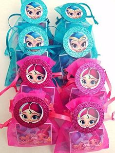 Buy 8 Shimmer and Shine Birthday Party Goody Favor Bags Pinata FREE Cupcake Toppers #shimmerandshine