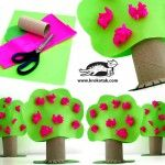 toilet paper rolls, diy crafts, blossom trees, tree crafts, craft ideas, spring crafts, kid crafts, christmas trees, kids craft projects