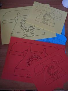 Задание по сказке Чуковского Телефон - подбери телефон по цвету и размеру