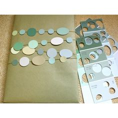 Paint Chips Gift Wrap  #Christmas #Gift #Wrapping