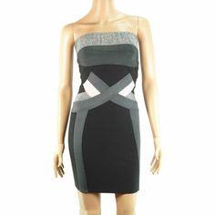 cheap Herve Leger strapless bandage dress sale