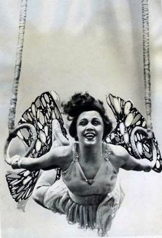 Vintage Photo of trapeze artist