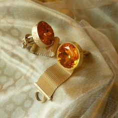 Vintage Dante Gold Tone Mens Cuff Links Circa by mystic2awesome,